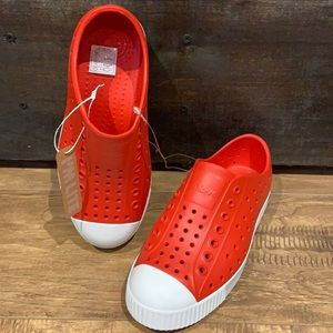 Red native shoes